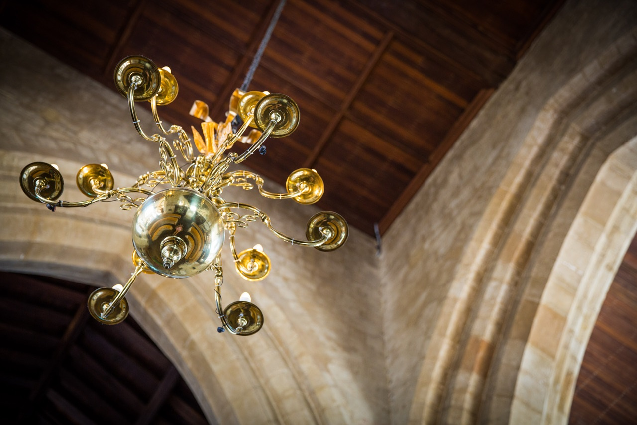 chandelier at St Mary's parish church of Thame