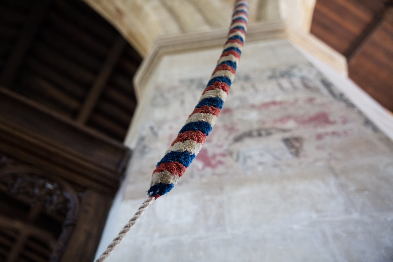 colourful rope at St Mary's parish church in Thame